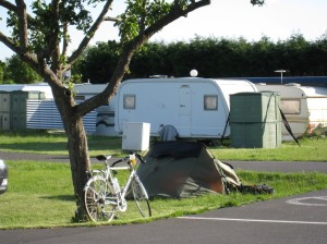 Pitched at Amazone campsite by the main driveway, immediately opposite the office, so they could observe watch what Englishman got up to!