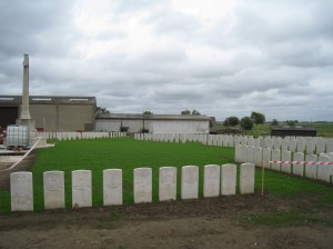 St Julien Dressing Station Cemetery - location of the first ever use of chemical warfare.