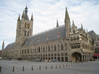 Ypres today - the Cloth Hall fully restored.